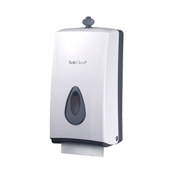 TWIN TOILET ROLL DISPENSER WHT PLASTIC (30)