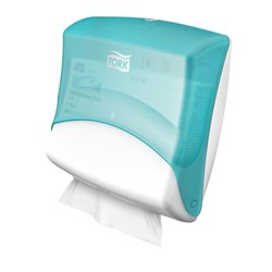 DISPENSER FOLDED CLOTH WIPER WHT / TURQUOISE W4