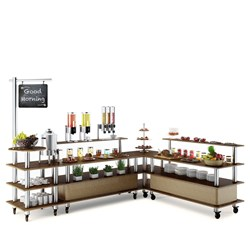 MODULAR BUFFET BREAKFAST CORNER 3300X2550X2385MM