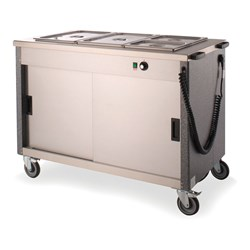 BAIN MARIE HOT MOBILE 3X1/1GN 3FBM 1200X665X900MM