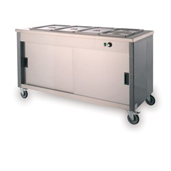 BAIN MARIE HOT MOBILE 4X1/1GN 4FBM 1500X665X900MM