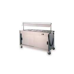 BAIN MARIE HOT MOBILE 4X1/1GN W/GANTRY 4FBMD 1500X715X1320MM