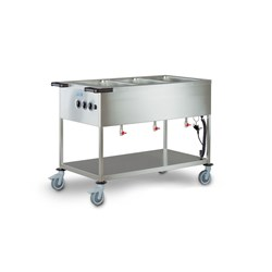 BAIN MARIE 3 WELL SUIT 1/1 GN SPA-EB-3 1256X678X900MM