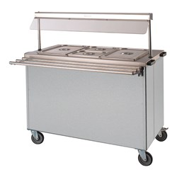 BAIN MARIE HOT MOBILE 1125X665X1320MM