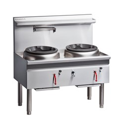 WATERLESS WOK GAS 2 HOLE CW2H-CC 1300X800X1230MM