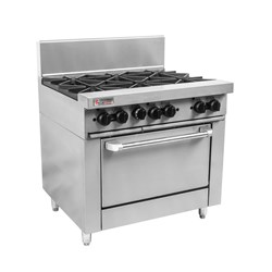 RANGE GAS 6 BURNER 900MM RCR9-6-NG 900X830X1135MM