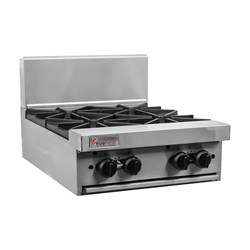 OPEN BURNER TOP GAS 4 BURNER RCT6-4 NG 600X803X445MM