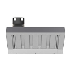 HOOD WITH STEAM CONDENSER XECHC-CF13 535X823X366MM