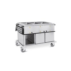 BAIN MARIE HOT MOBILE 1340X720X960MM