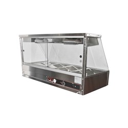 HOT FOOD DISPLAY 2 MODULE 10A STRAIGHT 705X600X725MM