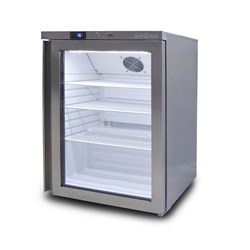 FRIDGE U/C 1DR GLASS 138LT UBC0140GD S/S 598X635X824MM