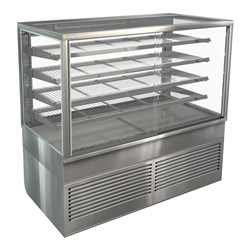DISPLAY CABINET HOT FREESTAND BTGHT15 1500X750X1380MM
