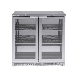 FRIDGE B/B 2DR GLASS 141LT TBBS900 S/S 900X500X800MM