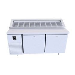 FRIDGE PREP 2DR SOLID 460LT MCU221 PC S/S 1635X830X865MM