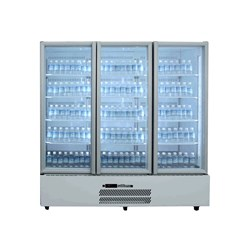 FRIDGE UPRIGHT 3 GLASS DOORS WHT 1845X740X2000MM