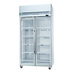 FREEZER UPRIGHT VFX 1000X WHT 2 GLASS DOORS