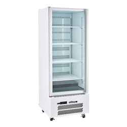 FRIDGE UPRIGHT 1 GLASS DOOR WHT 740X740X2000MM