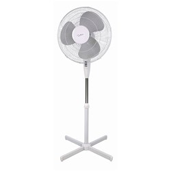 PEDESTAL FAN 400MM 3 SPEED WHT NERO