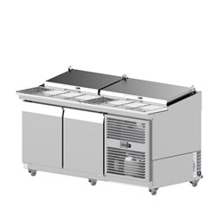 PIZZA PREP BENCH 2 DR SOLID AXR.PM.1740 1740X855X985MM