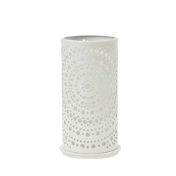 BILLY CANDLE HOLDER METAL WHT 140X75MM 4/CTN
