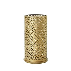 BLISS CANDLE HOLDER GOLD METAL 140X75MM 4/CTN