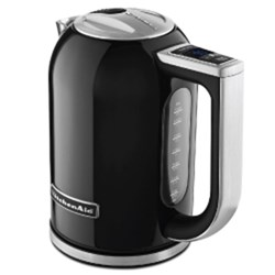 KETTLE 1.7LT CORDLESS ONYX BLK W/- TEMPERATURE CONTROL