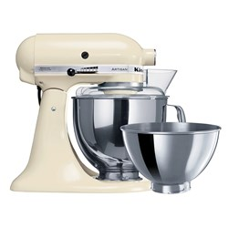 STAND MIXER KITCHENAID KSM160 4.8LT ALMOND CREAM W/- 2 BOWLS