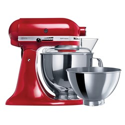 STAND MIXER KITCHENAID KSM160 4.8LT EMPIRE RED W/- 2 BOWLS