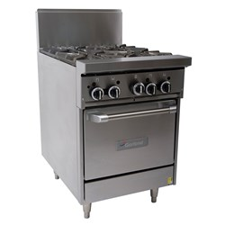 RANGE GAS 4 BURNER 600MM GF24-4L-NG 600X876X1153MM