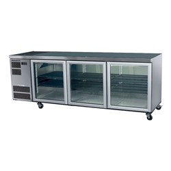 CHILLER UNDER COUNTER 3 DOOR CL600 S/S