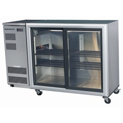 CHILLER BACKBAR 2 SLIDING DRS REMOTE WHT BB380R-2SL