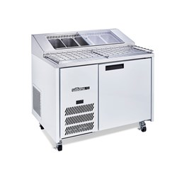 PIZZA PREP BENCH 1 DOOR WHT 1152X830X870MM