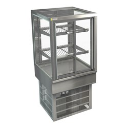 DISPLAY CABINET COLD C/TOP STGRF6 600X650X920MM