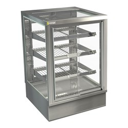 DISPLAY CABINET HOT C/TOP STGHT6 600X650X920MM