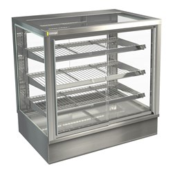DISPLAY CABINET HOT C/TOP STGHT9 900X650X920MM