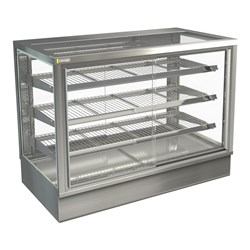 DISPLAY CABINET HOT C/TOP STGHT12 1200X650X920MM