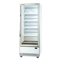 FRIDGE U/R 1DR GLASS 584LT BME600N-A WHT 740X795X2005MM