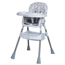 HIGH CHAIR SILVER SNACKTIME