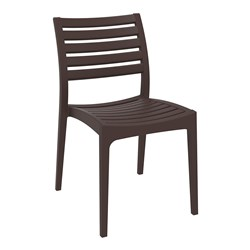 ARES CHAIR CHOCOLATE 450MM HIGH