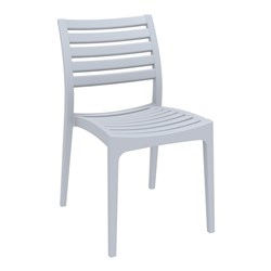 ARES CHAIR SILVER GREY 450MM HIGH