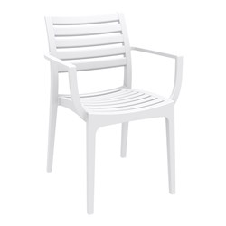 ARTEMIS ARM CHAIR WHT 450MM HIGH
