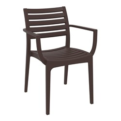ARTEMIS ARM CHAIR CHOCOLATE 450MM HIGH