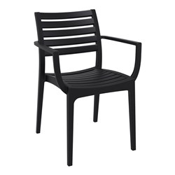 ARTEMIS ARM CHAIR BLK 450MM HIGH
