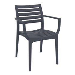 ARTEMIS ARM CHAIR ANTHRACITE 450MM HIGH
