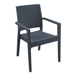 IBIZA ARM CHAIR ANTHRACITE