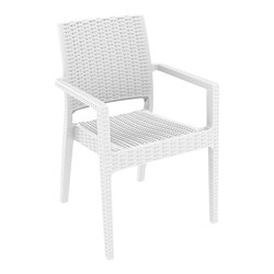 IBIZA ARM CHAIR WHT