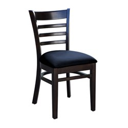 FLORENCE CHAIR CHOCOLATE BLK VINYL SEAT