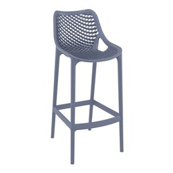 AIR BAR STOOL 75 ANTHRACITE 750MM HIGH