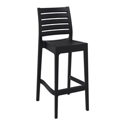 ARES BAR STOOL 75 BLK 750MM HIGH