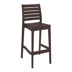 ARES BAR STOOL 75 CHOCOLATE 750MM HIGH